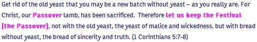 1 Co ch5 verse 7-8