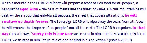 6_Isaiah ch 25 verse 6-9