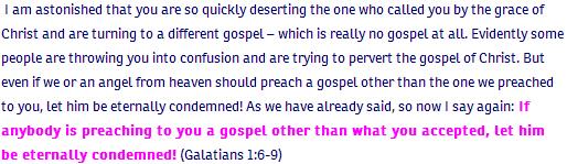 Galatians ch 1 verse 6
