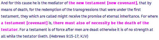 Hebrews ch 9 verse 15 KJV