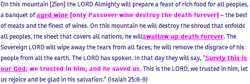 Isaiah ch 25 verse 6