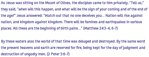 Matthew ch 24 verse 3 and others