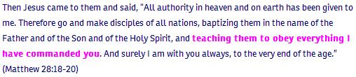 Matthew ch 28 verse 18-20