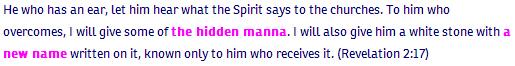 Revelation ch 2 verse 17