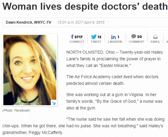 Woman lives on Easter