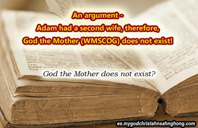 Genesis 1:26-27 does not indicate God the Mother of WMSCOG but Lilith?