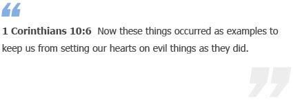 1 Corinthians 10:6