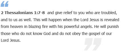2 Thessalonians 1:7-8