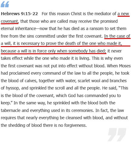 Hebrews 9:15-22 - WMSCOG