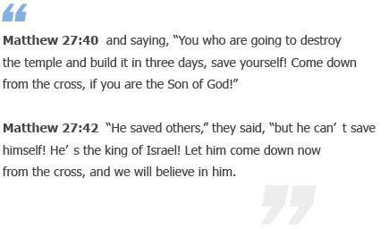 Matthew 27:40-42
