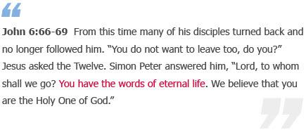 John 6:66-69