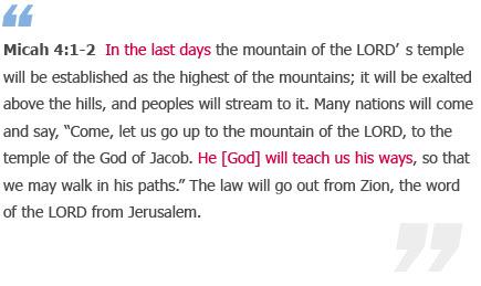 Micah 4:1-2 (WMSCOG)