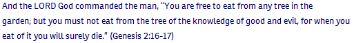 2_Genesis ch 2 verse 16-17