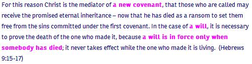 Hebrews ch 9 verse 15 NIV