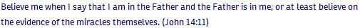 John ch 14 verse 11