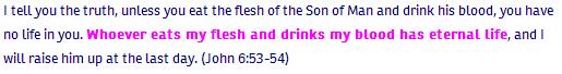 John ch 6 verse 53