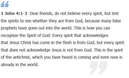 1 John 4:1-3