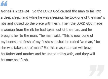 Genesis 2:21-24
