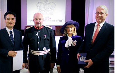 The World Mission Society Church of God (WMSCOG) was given the Queen's Award for Voluntary Service